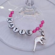 Kangaroo Personalised Wine Glass Charm